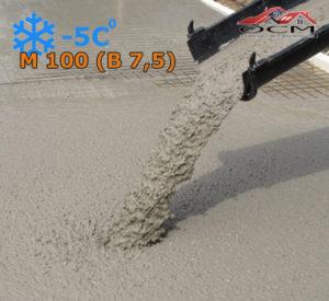 Бетон товарный М 100 (В 7,5) с хим добавкой -5 С, м³