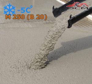 Бетон товарный М 250 (В 20) с хим добавкой -5 С, м³