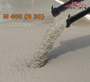 Бетон товарный М 400 (В 30), м³