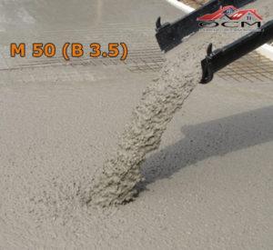 Бетон товарный М 50 (В 3,5), м³
